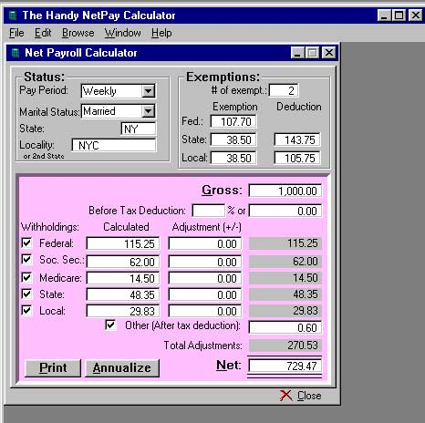w 2 1099 filer software net pr calculator